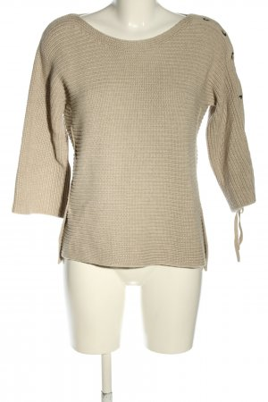 Oui Strickpullover wollweiß Zopfmuster Casual-Look