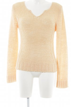 Oui Strickpullover apricot Casual-Look