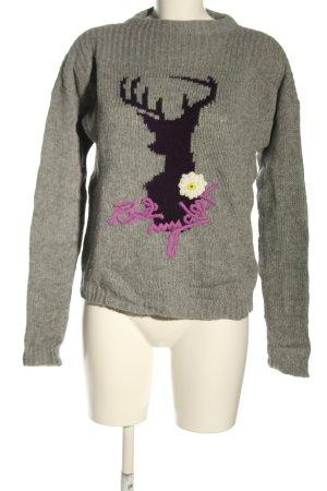 Oui Pull tricoté imprimé avec thème style décontracté
