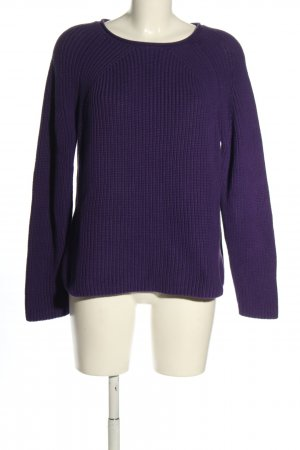 Oui Strickpullover lila Casual-Look