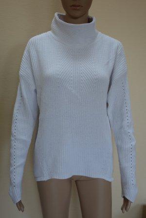 Oui Pull tricoté blanc