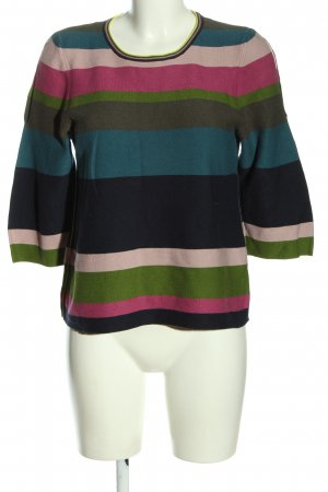 Oui T-shirts en mailles tricotées motif rayé style décontracté