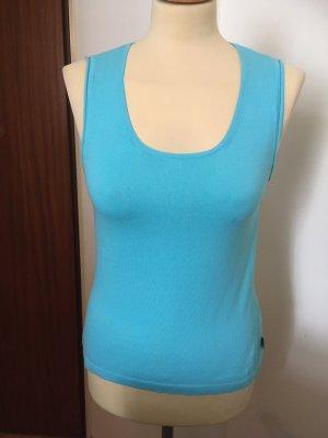 Oui Camicia maglia azzurro-turchese