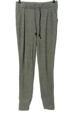Oui Sweat Pants light grey weave pattern casual look