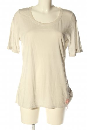Oui T-Shirt wollweiß Casual-Look