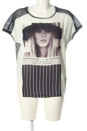 Oui T-Shirt meliert Casual-Look