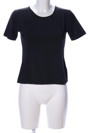 Oui T-Shirt schwarz Casual-Look