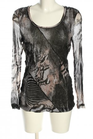 Oui Transparenz-Bluse abstraktes Muster Casual-Look
