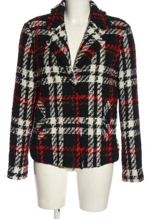 Oui Blazer en tweed motif à carreaux style décontracté