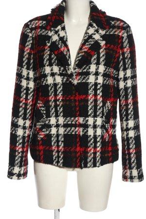 Oui Tweed blazer geruite print casual uitstraling