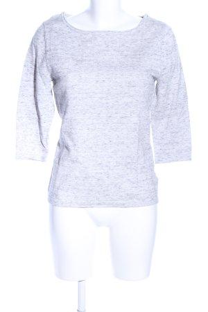Oui U-Boot-Shirt hellgrau meliert Casual-Look