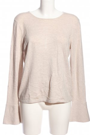 Oui Strickpullover pink meliert Casual-Look