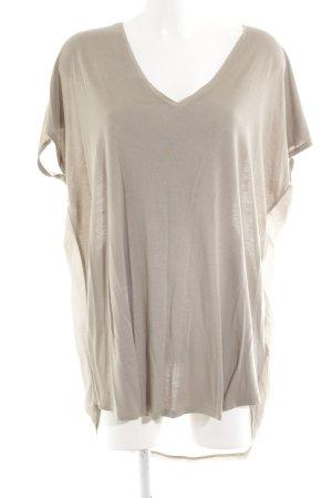 Oui V-Ausschnitt-Shirt wollweiß Casual-Look