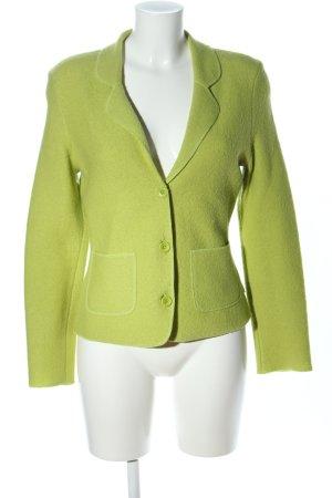 Oui Woll-Blazer grün Business-Look