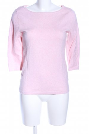 Oui Wollpullover hellrosa meliert Casual-Look