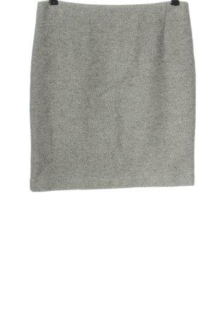 Oui Gonna di lana grigio chiaro puntinato stile professionale