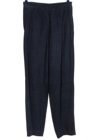 OuiSet Pantalon en cuir bleu style décontracté