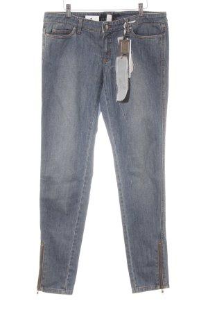 OuiSet Slim Jeans stahlblau meliert Casual-Look