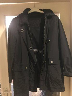 Outdoor Jacke schwarz Größe 42 Kapuze (abknöpfbar) – wenig getragen