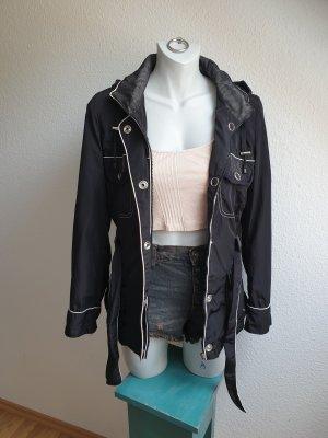 Outdoor Jacke / Übergangsjacke mit Gürtel in Trenchcoatoptik