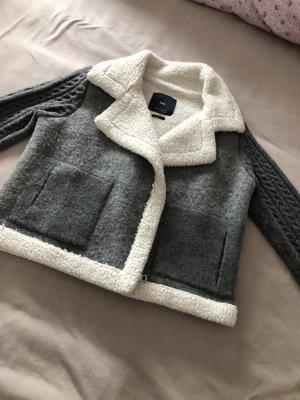 Zara Kurtka outdoor szary-biały