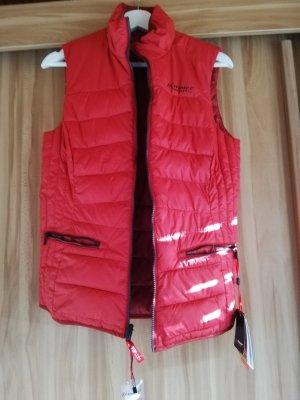 Maier Sports Omkeerbaar vest rood-donkerrood