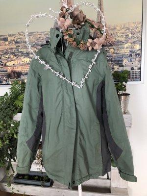 Veste d'extérieur vert clair-gris vert