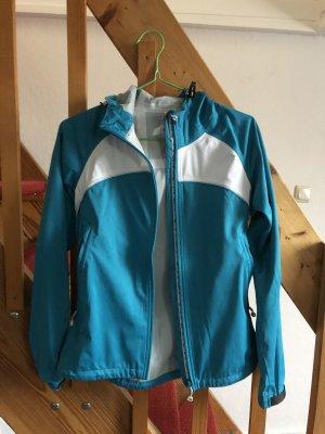 Salewa Outdoor Jacket neon blue-white polyester
