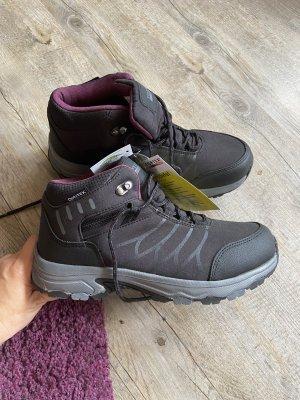 Toptex Aanrijg laarzen zwart-violet Gemengd weefsel