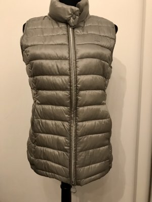 Closed Quilted Gilet silver-colored-light grey