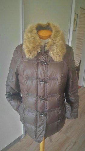 outerwear Chaqueta de plumón marrón grisáceo-marrón claro Viscosa