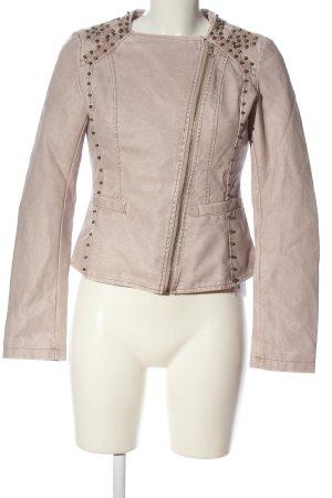 outerwear Chaqueta de cuero de imitación blanco puro look casual
