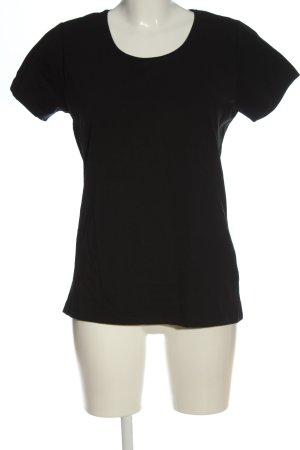 Outfit Fashion Koszulka z dekoltem w łódkę czarny W stylu casual
