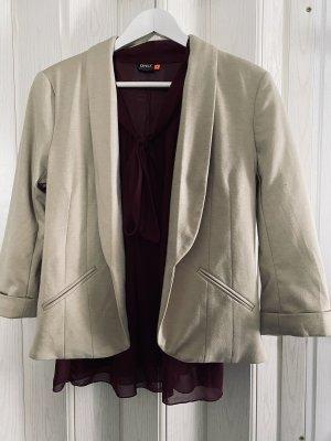 Outfit Set, Blazer beige & Bluse Weinrot, Neu