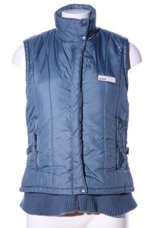 Steppweste blau Steppmuster Casual-Look