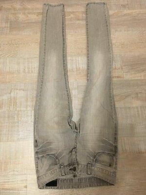 Outfitters nation Pantalon cigarette gris clair-argenté tissu mixte