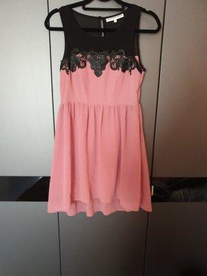 Outfitters nation Robe en dentelle noir-or rose