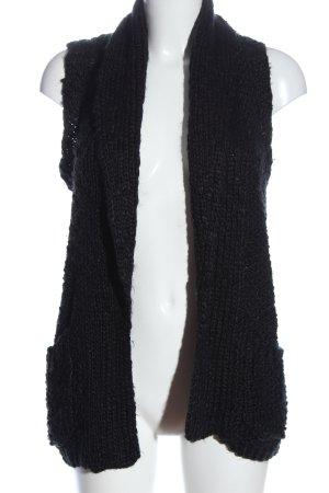 Outfitters nation Gilet tricoté noir style décontracté