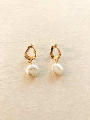 Ovale Ohrringe Perle