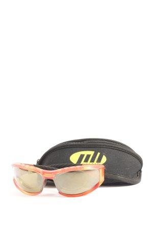 ovale Sonnenbrille hellorange sportlicher Stil