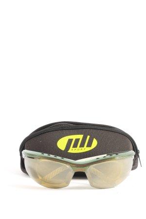 ovale Sonnenbrille khaki-braun sportlicher Stil