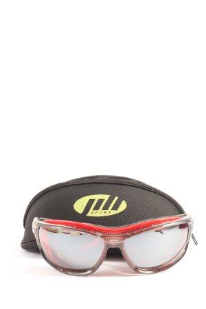 Owalne okulary przeciwsłoneczne czerwony Sportowy styl