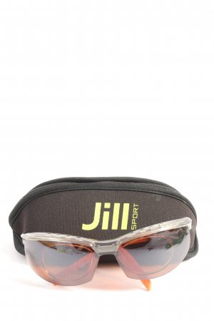 ovale Sonnenbrille schwarz-hellorange Casual-Look