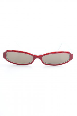 Oval Sunglasses turquoise-brick red retro look