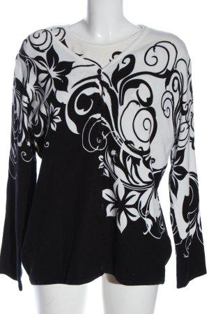 Ovanti Twin Set punto negro-blanco estampado floral look casual