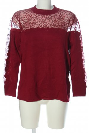 Ovanti Strickpullover rot Casual-Look