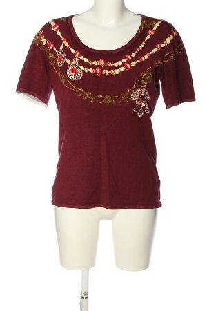 Ovanti T-shirts en mailles tricotées imprimé avec thème style décontracté