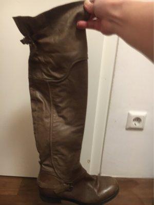 Vero Cuoio Botas sobre la rodilla marrón grisáceo