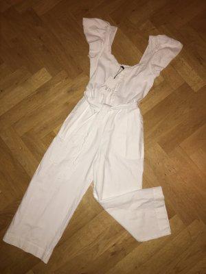 Overal aus weißer Baumwolle von Zara
