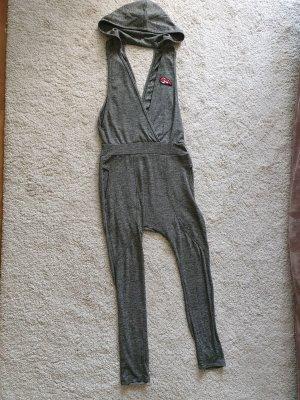 Spodnie typu boyfriend jasnoszary-ciemnoszary